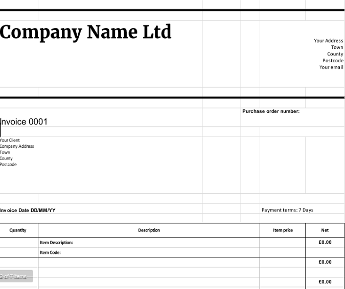 simple invoice template self employed – notators, Invoice examples