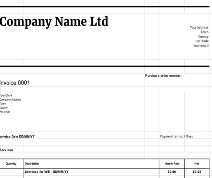 downloadable invoice template free