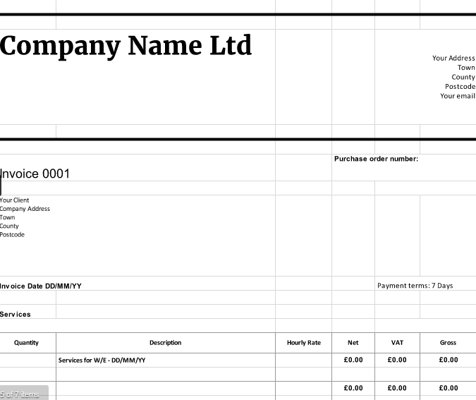 free downloadable invoice templates | cloudaccountant.co.uk, Invoice examples