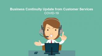 Business Continuity Update from Customer Service - COVID-19