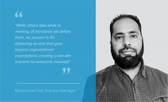We are delighted to welcome our new Practice Manager - Muhammad Dar